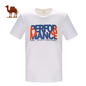 Kebugaran kasual berjalan kebugaran leher bulat lengan pendek t-shirt pria leher bulat t-shirt (C7S2U7605, putih)