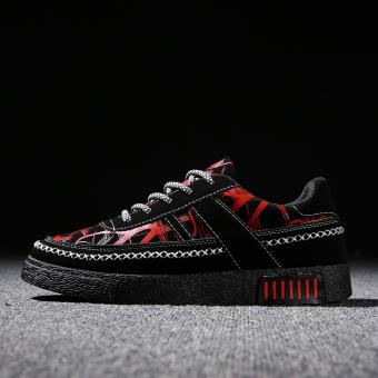Kebugaran kasual sepatu pria baru sepatu sepatu pria (Merah)