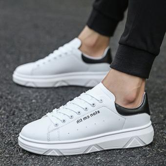 Beli Kebugaran Korea Fashion Style peninggi pria sepatu British kasual  sepatu kulit (G107 (hitam dan putih)) Online f95ed17ce5