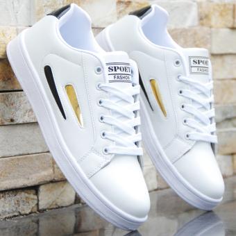 Jual Kebugaran Korea Fashion Style Putih Laki Laki Remaja Sepatu Sepatu Sepatu 716 Emas Hitam