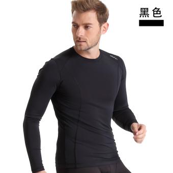 Kebugaran legging pakaian Pria Kebugaran pakaian berjalan pakaian basket (Hitam)