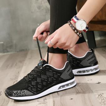 Kebugaran pria kebugaran Room deodoran jala sepatu lari kebugaran sepatu (Hitam)