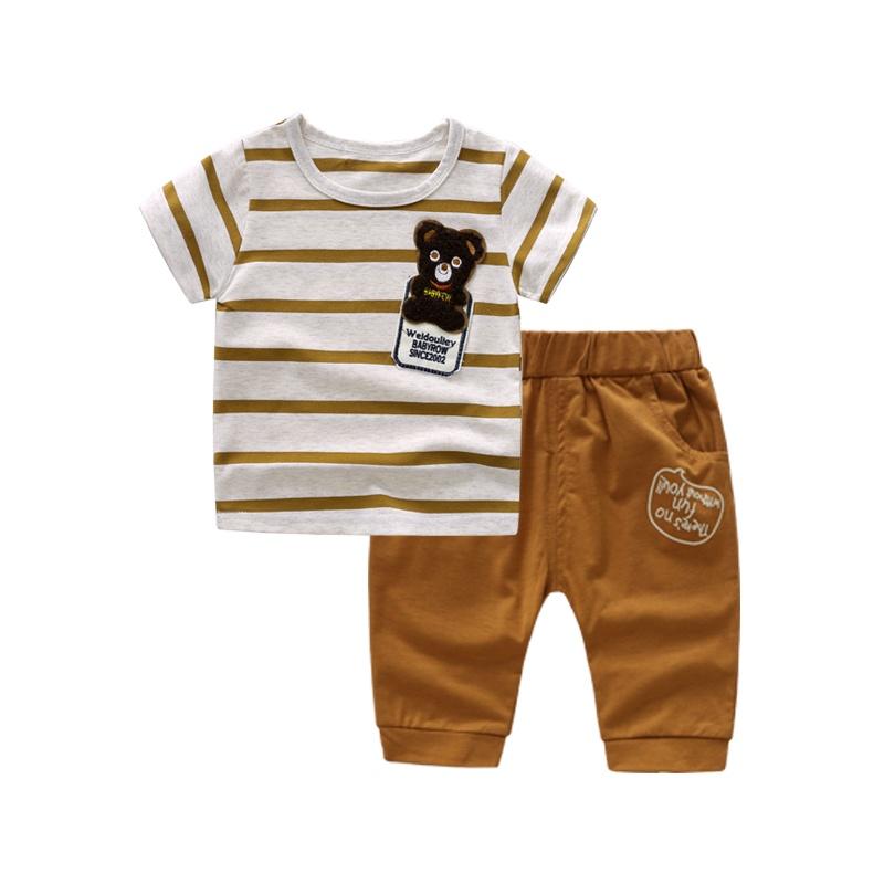 Kecil bayi anak musim panas baru bayi dan anak-anak pakaian musim panas ( Kuning