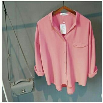 harga Kedai_baju Blouse Murah / Bangkok Import / Atasan Wanita Emma Pink Lazada.co.id