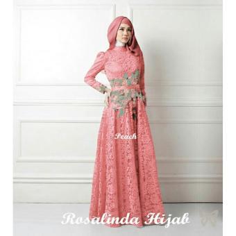 Kedai Baju Pakaian Muslim   Baju Muslim Murah Syari Hijab   Gamis Rosalinda  Peach f598213950