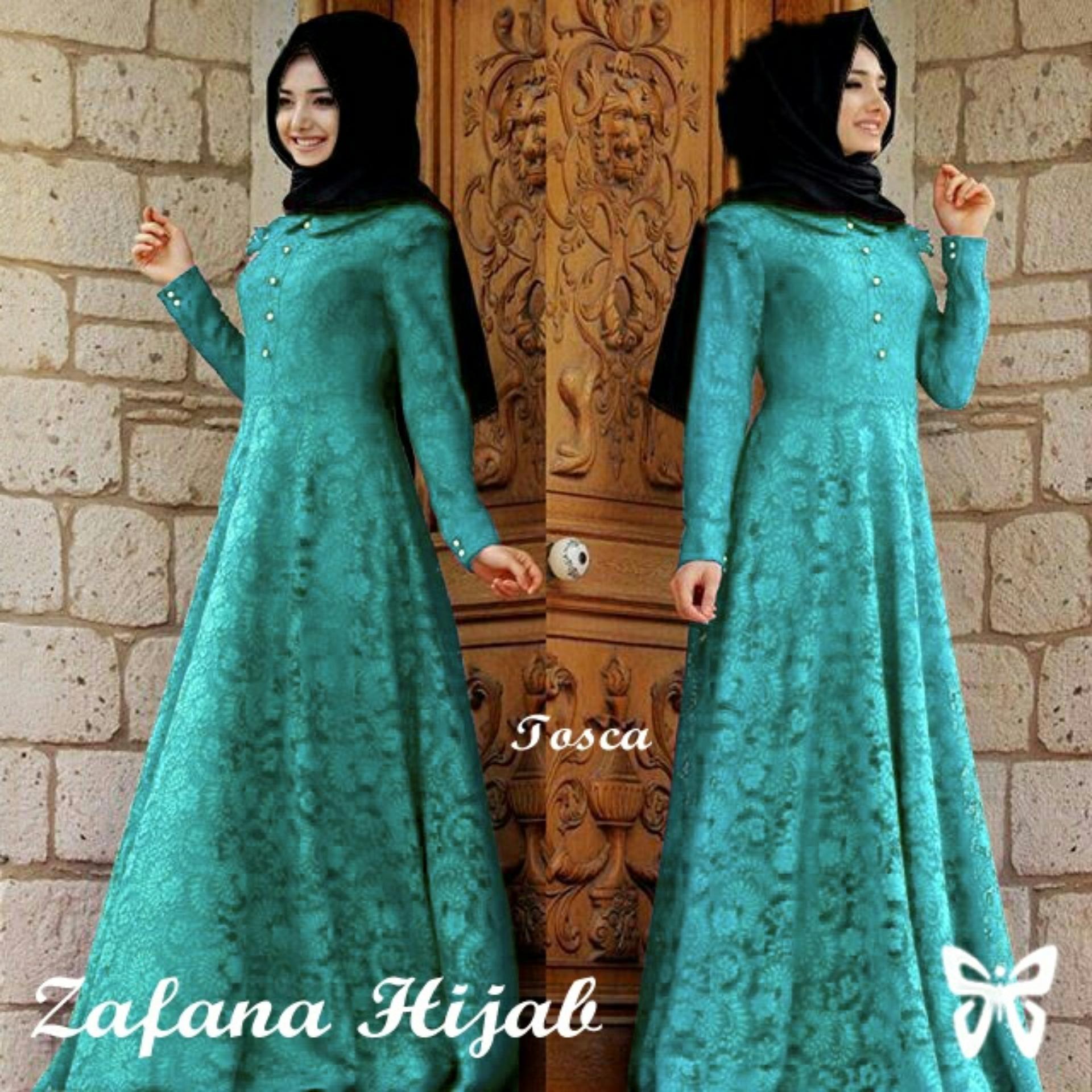 ... Flash Sale Kedai Baju Pakaian Muslim Baju Muslim Murah Syari Hijab GamisZafana Tosca