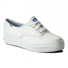 Keds Sepatu Wanita KDZ-WH55748-TRIPLE LEATHER.White.5