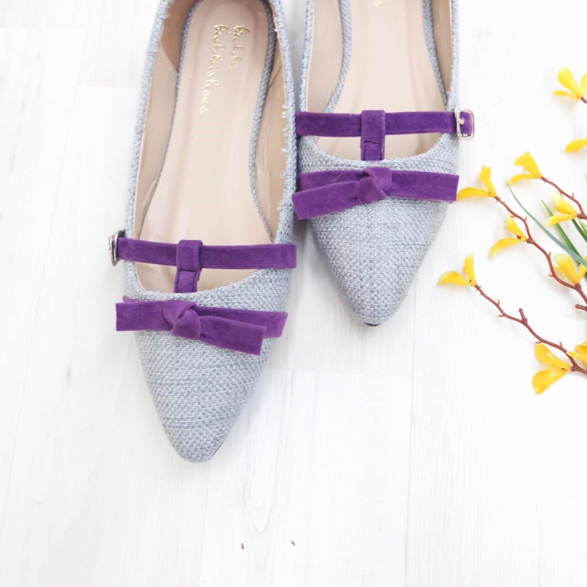 KelinciMadu-Raeny Flat Shoes-Grey .