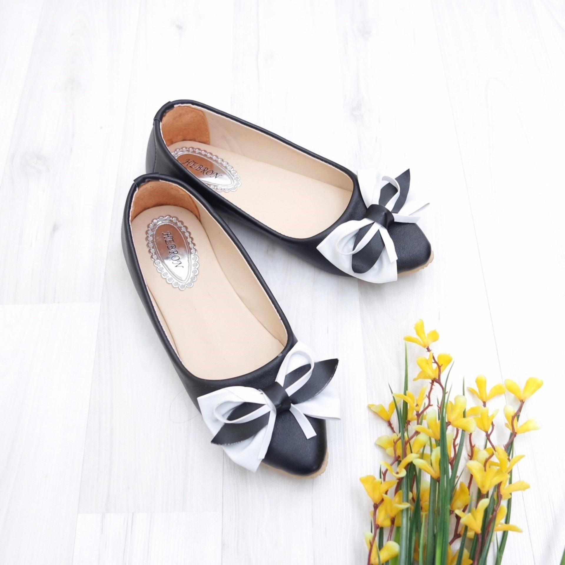 Flash Sale KelinciMadu-Tied Ribbon Flatshoes-Black