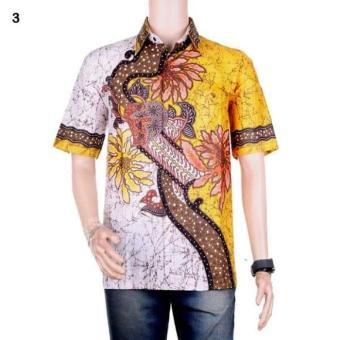 Gambar Kemeja Batik Riyan Warna Kuning
