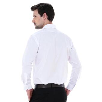 Kemeja Pria Alisan Lengan Panjang Polos Reguler Putih - 2