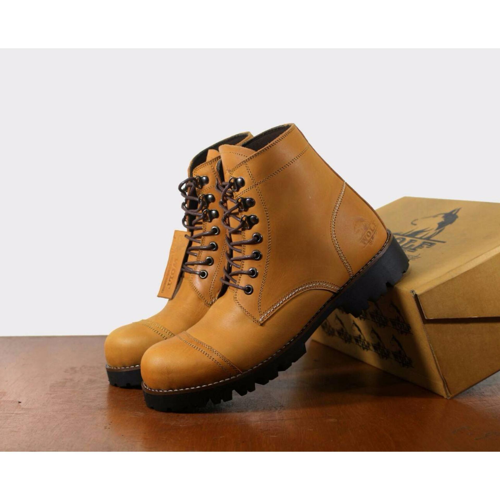 KERAK STORE Sepatu Safety Boots Trecking - Sepatu Boots Safety Leather  men s - 15c5956e5b