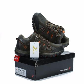 KETA Sepatu Hiking Outdoor Sepatu Gunung KETA 427 - Hijau Orange - 2