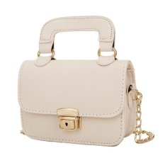 KGS Tas Casual Wanita Mini Top Handle Chained Satchel Bag - Putih