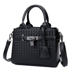 KGS Tas Casual Wanita Woven Locked Mini Handbag - Hitam