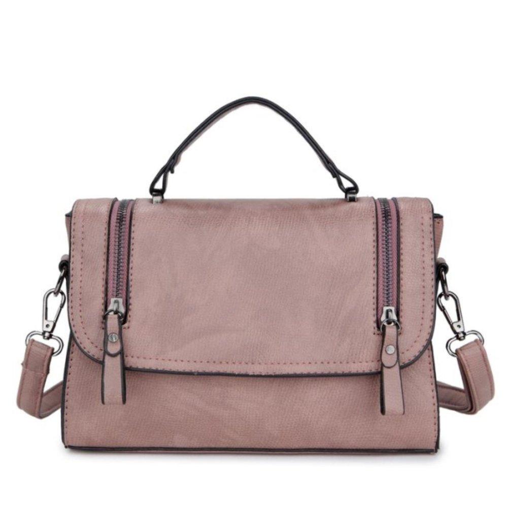 Kgs Tas Casual Wanita Two Zippers Satchel Bag Pink Daftar Update Selempang Impor