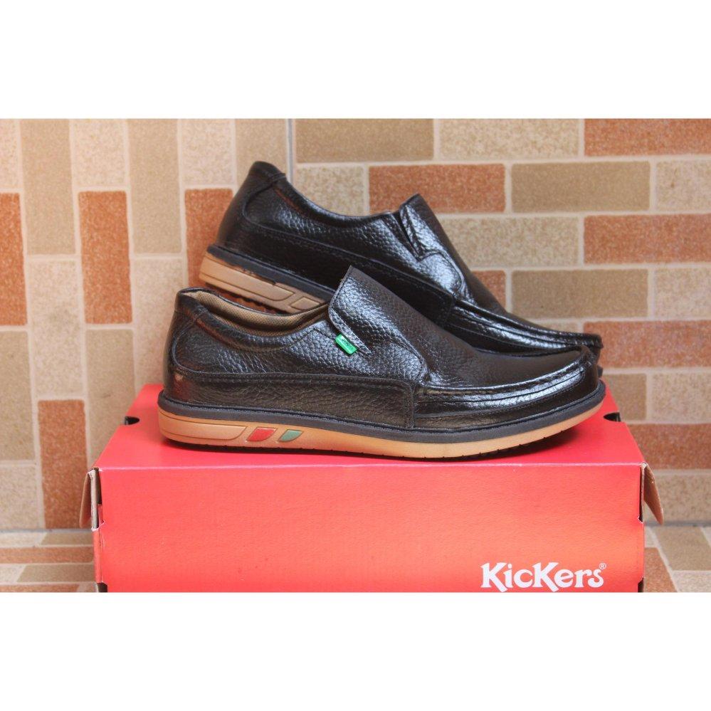 eShop Checker Kickers Sepatu Pria slip on Kulit Asli Model KR 4457 ... 555927cebe
