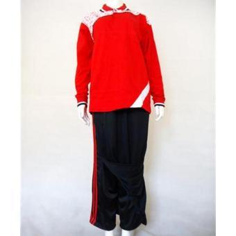 Kira Sports Baju Olahraga Muslim Wanita / Baju Senam Muslim WanitaAS16001-Red, L - Merah