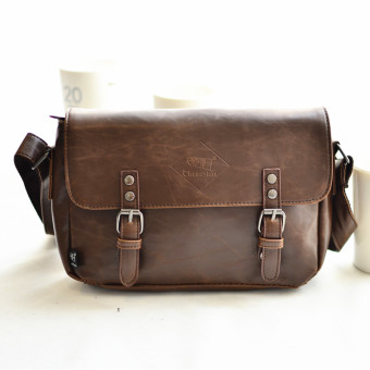 Klasik Korea Fashion Style kulit baru bahu utusan tas Messenger Bag (PARK'S yang mendalam)