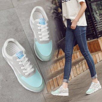 harga Korea Fashion sepatu lari sepatu kasual trendi Harajuku siswa diakhir kuas tebal sepatu yang baru warna Sepatu Lazada.co.id