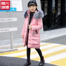 Korea Fashion Style baru musim dingin bagian panjang dari katun tebal jas anak perempuan empuk (