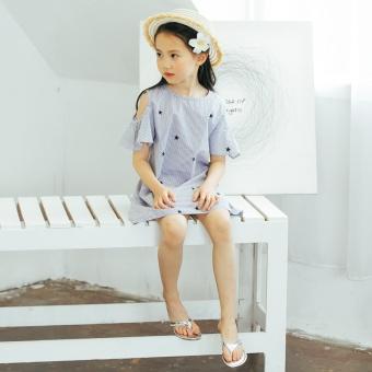 ... lengan pendek. Source · Diskon Penjualan Korea Fashion Style besar  pakaian anak-anak gadis kecil musim panas strapless rok ca73dbab17