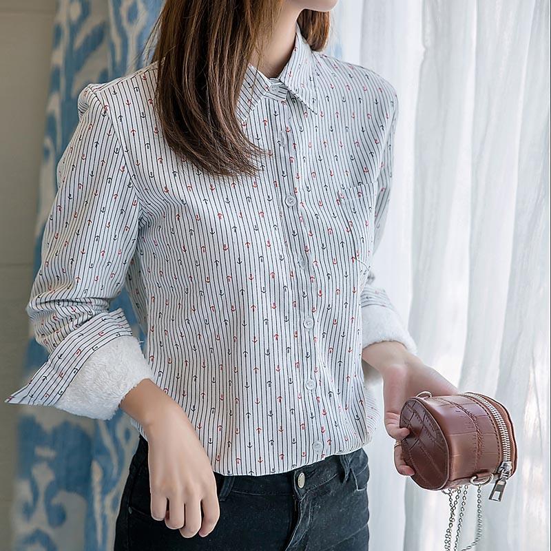 Flash Sale Korea Fashion Style ditambah beludru perempuan lengan panjang t-shirt bottoming baju kemeja