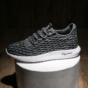 Jual Korea Fashion Style hitam musim gugur muda laki-laki sepatu baru kebugaran sepatu kasual (Abu-abu) Online