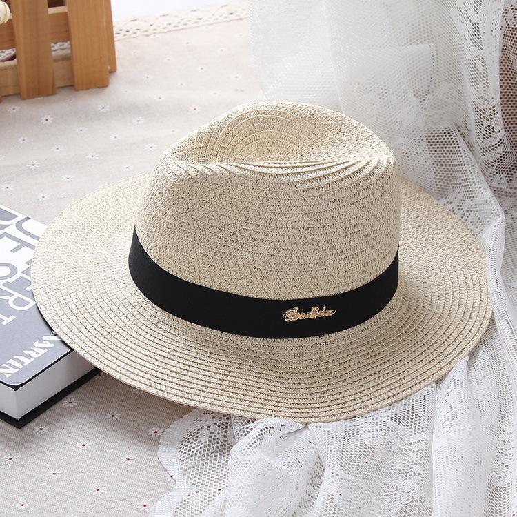 Cheap online Korea Fashion Style huruf tabir surya dilipat topi topi jazz topi topi (Nasi putih)