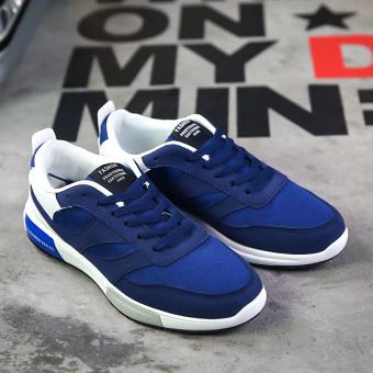 Harga Korea Fashion Style kanvas pria berjalan sepatu olahraga sepatu pria  sepatu (Biru) Ori c00930f603