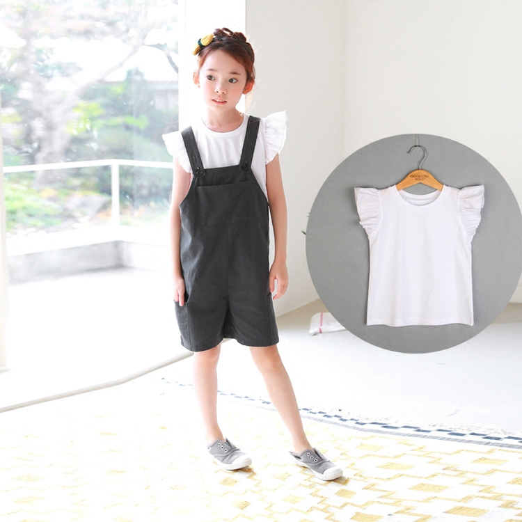 ... Putih Source · gaun gadis denim dress tali Source Korea Fashion Style katun anak anak gadis tanduk lengan t