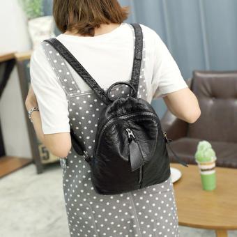 Korea Fashion Style Kulit Lembut Mode Baru Kecil Tas Ransel Mini Tas Bahu ( Terompet)
