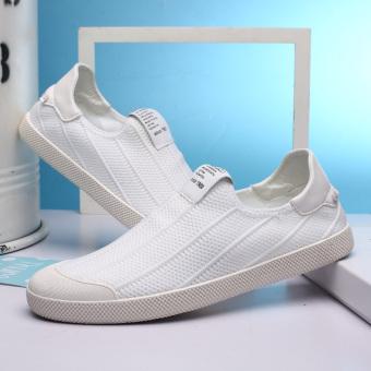 Korea Fashion Style laki-laki sepatu kasual musim gugur sepatu pria (Putih)