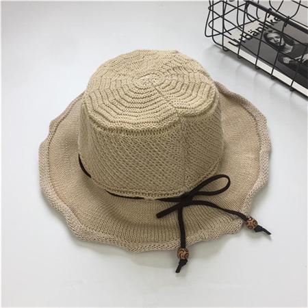 ... perempuan Source · Korea Fashion Style matahari musim panas pantai topi musim panas topi jerami tenunan tangan Beige
