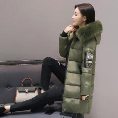 Korea Fashion Style musim dingin baru Slim mantel bawah empuk (Hijau gelap)