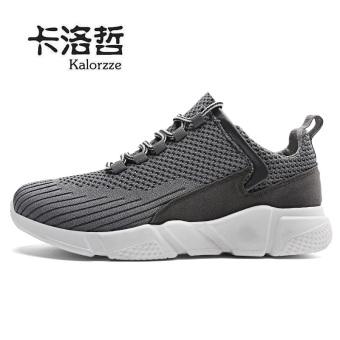Beli Korea Fashion Style musim panas bernapas pria sepatu olahraga sepatu (Model laki-laki + Abu-abu) Murah