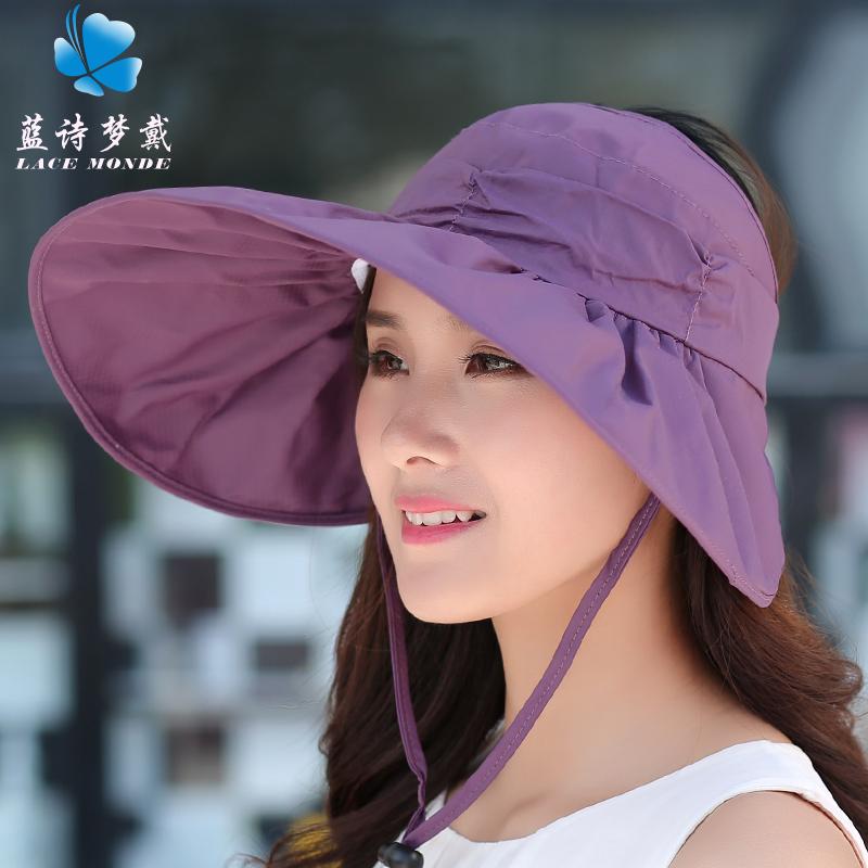 Korea Fashion Style musim panas musim panas perempuan matahari topi  matahari topi (Baru ungu) 8dd0f7473e