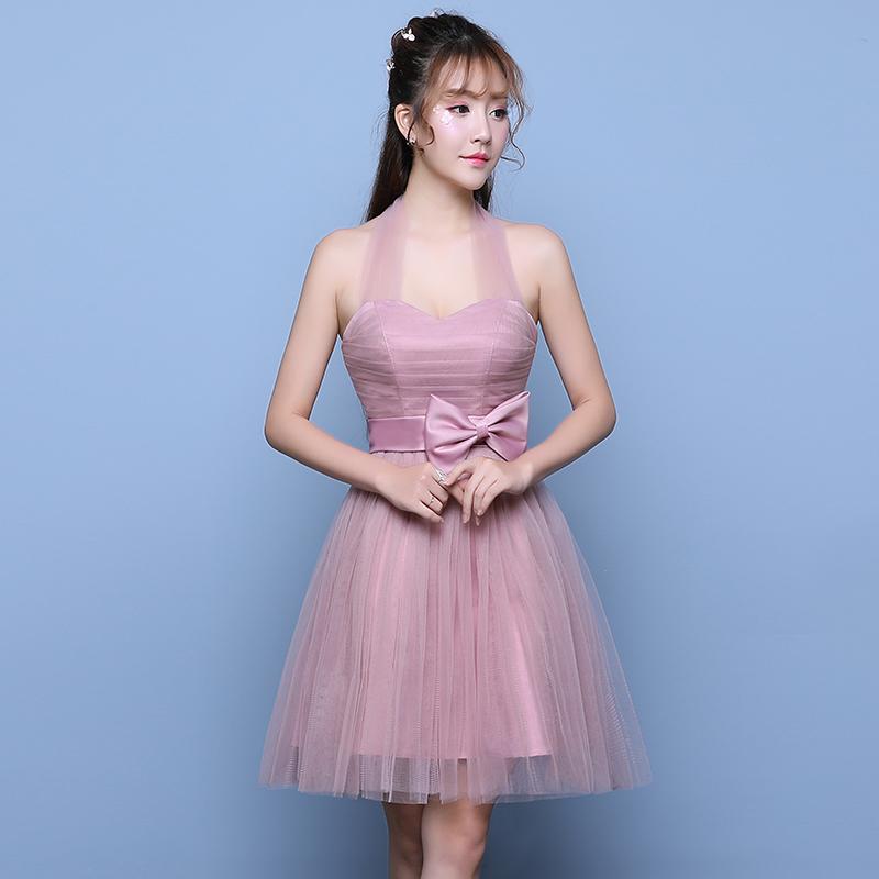 Tianshijiayi Ungu Romantis Pengantin Gaun Pengiring Pengantin Toast Pakaian (Ungu Bagian Tali) (Ungu
