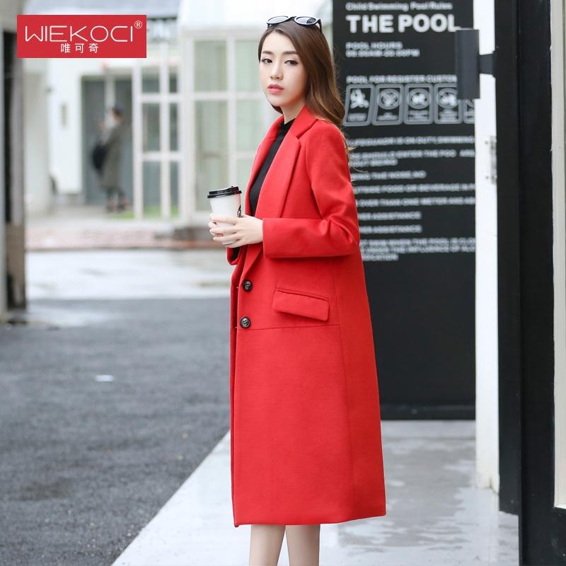 musim dingin baru empuk jaket mantel Anggur merah. Source · Korea Fashion .