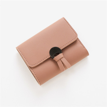 Korea Fashion Style perempuan Mahasiswa dua kali lipat nol dompet dompet kecil (Merah muda)