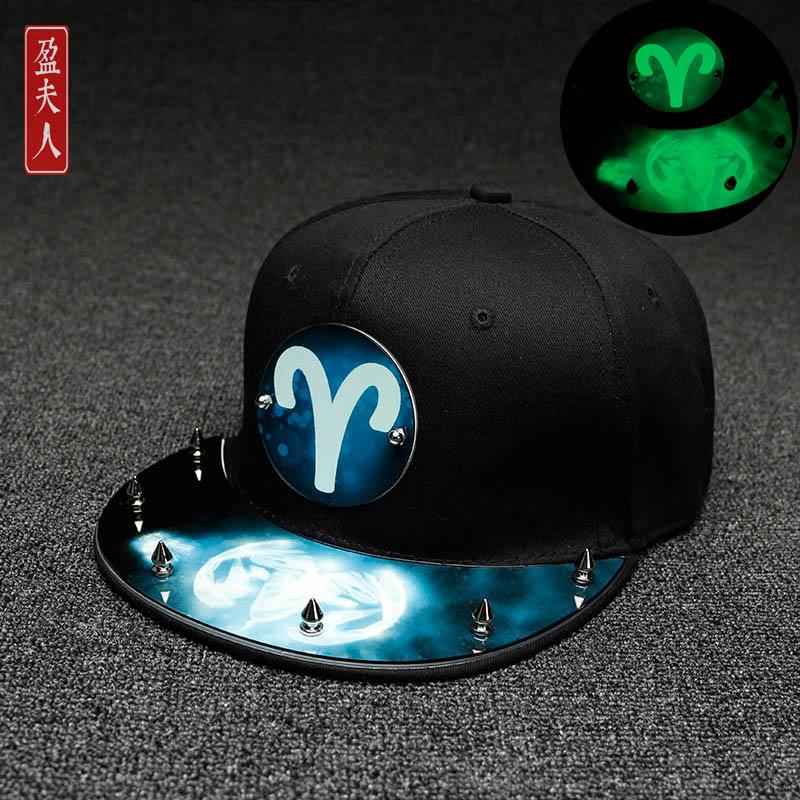 Cheap online Korea Fashion Style perempuan mahasiswa neon bisbol topi topi (Aries)