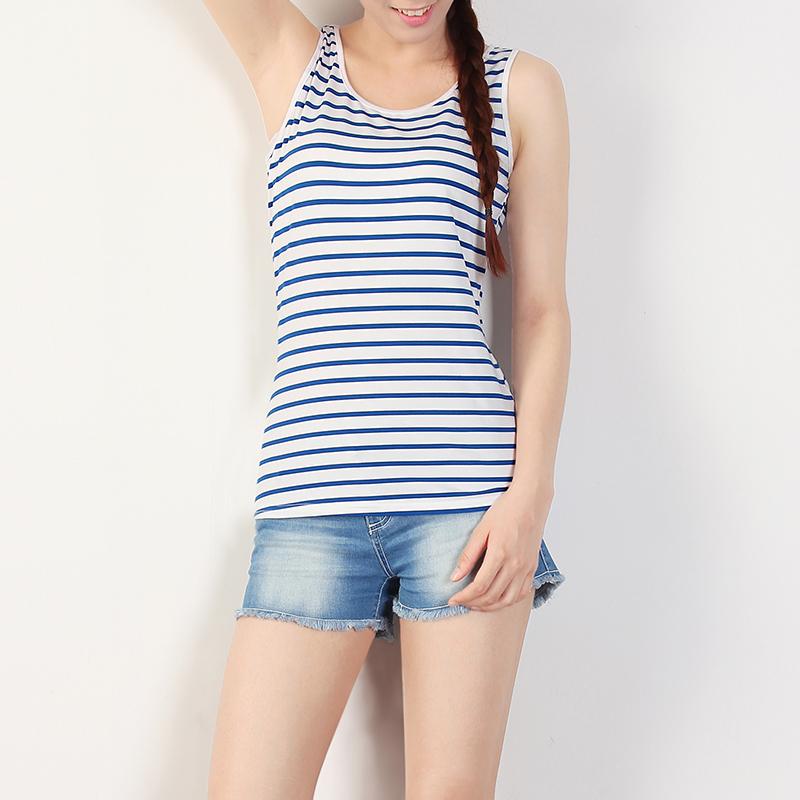 ... Tank Top Pria. Source. ' Flash Sale Korea Fashion Style perempuan Slim tipis kemeja sling Vest (Biru bar)