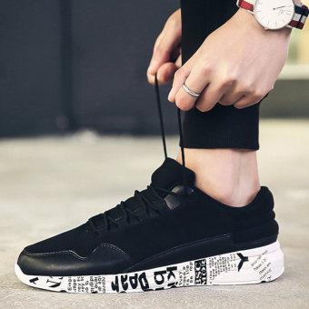 Harga Korea Fashion Style pria fashion sepatu kasual sepatu (1733RL hitam dan putih)