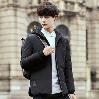 Harga Korea Fashion Style Perempuan Musim Dingin Baru Empuk Jaket Mantel Hitam Beli Online