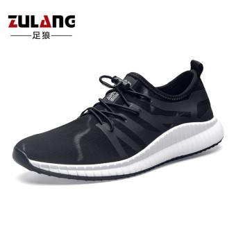 Jual Korea Fashion Style pria ringan sepatu lari pria sepatu (Hitam) Online 5d1805050e