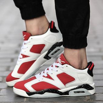 Harga Korea Fashion Style pria sepatu sepatu sneaker (N95 merah ... c8630fa64e