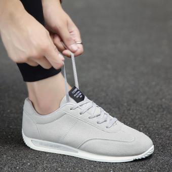 Harga Korea Fashion Style pria sepatu siswa laki-laki sepatu (Abu-abu) Ori 8453980f9b