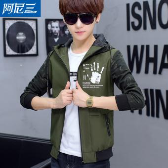 Jual Anak Laki Laki Korea Jaket Jaket Musim Gugur Tentara Hijau Di Online Store
