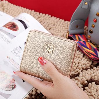 Korea Fashion Style siswa perempuan Mini dompet kecil wallet (Emas)