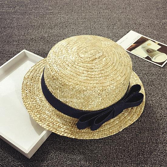 Korea Fashion Style tabir surya musim panas perempuan topi topi kecil topi jerami anak-anak